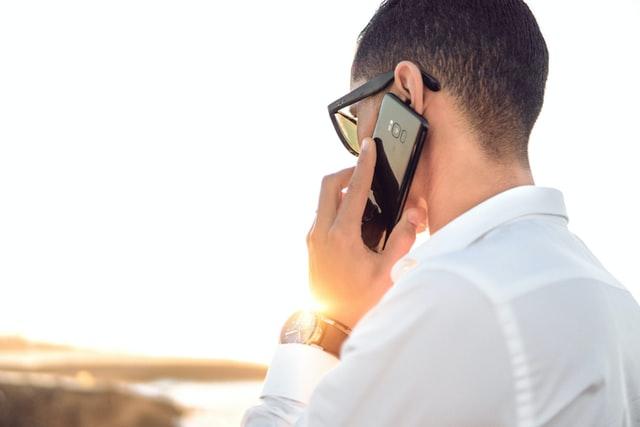 appel smartphone orange