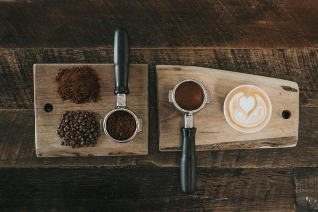 grains café tasse