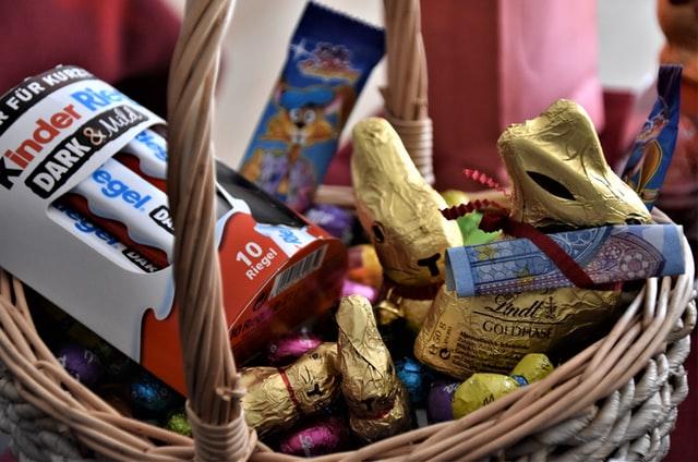 panier chocolats kinder