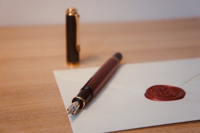 stylo enveloppe mise demeure